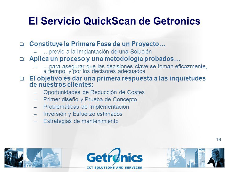 El Servicio QuickScan de Getronics