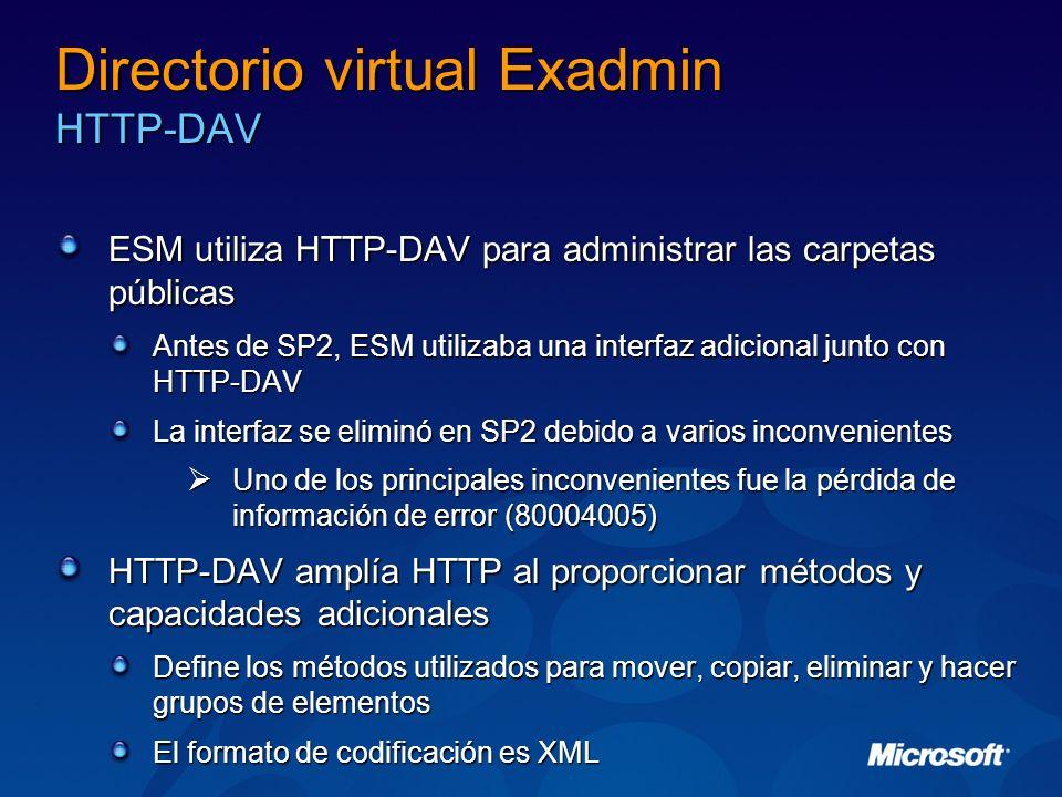 Directorio virtual Exadmin HTTP-DAV