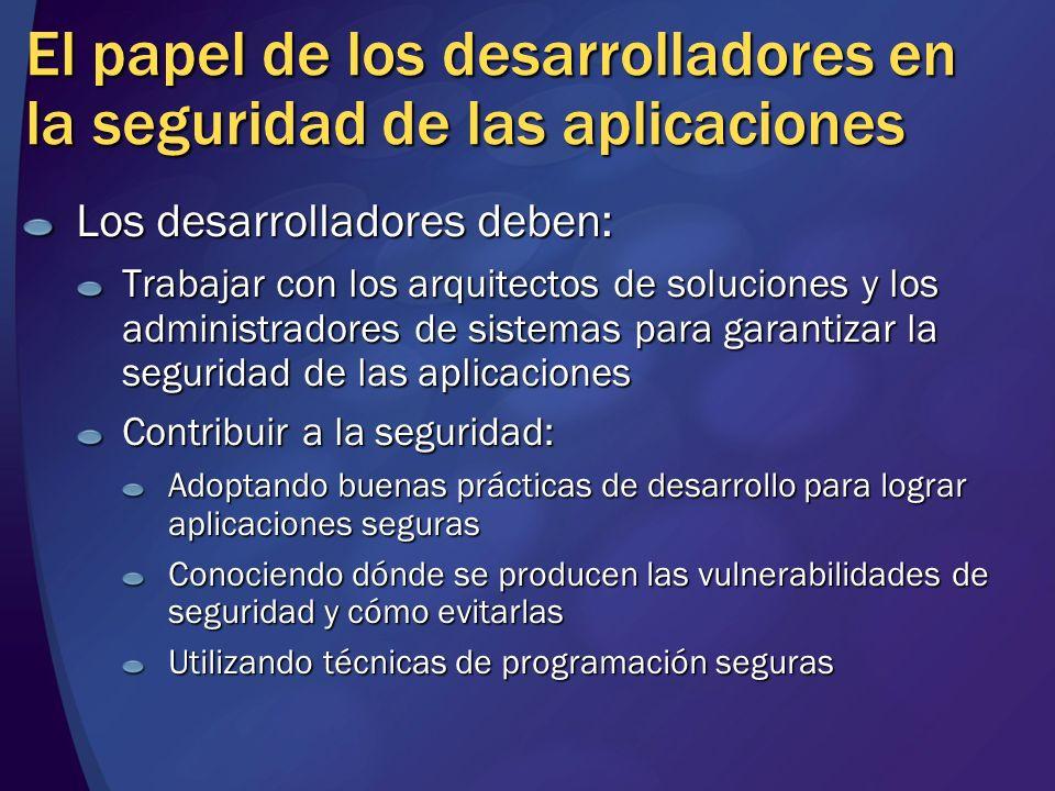 El papel de los desarrolladores en la seguridad de las aplicaciones