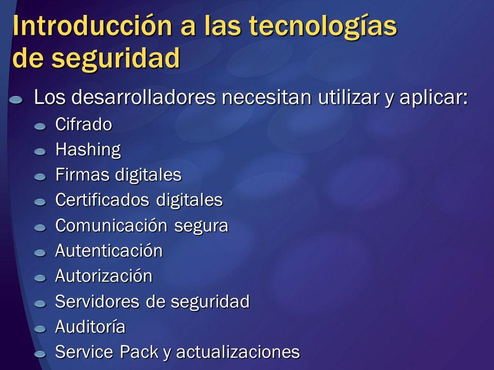 Introducción a las tecnologías de seguridad