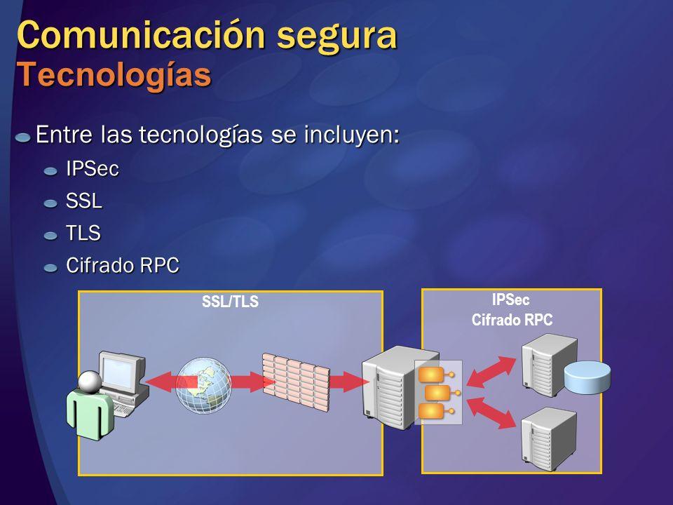 Comunicación segura Tecnologías