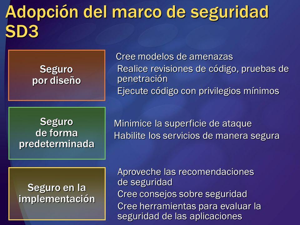 Adopción del marco de seguridad SD3
