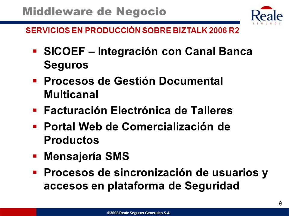SICOEF – Integración con Canal Banca Seguros