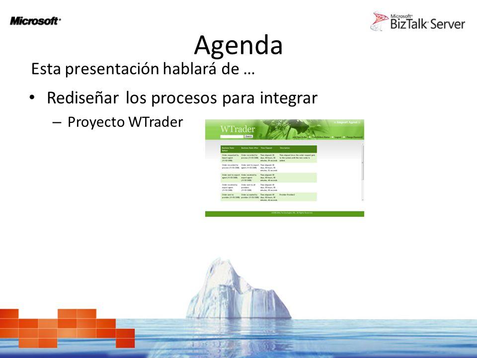 Agenda Rediseñar los procesos para integrar