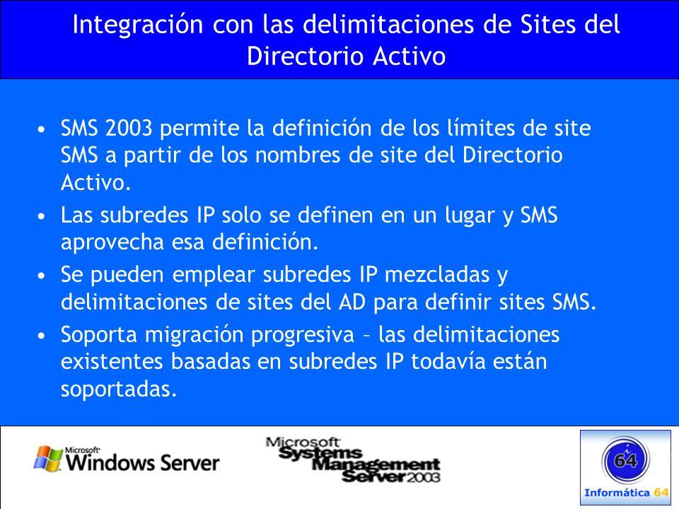 Integración con las delimitaciones de Sites del Directorio Activo