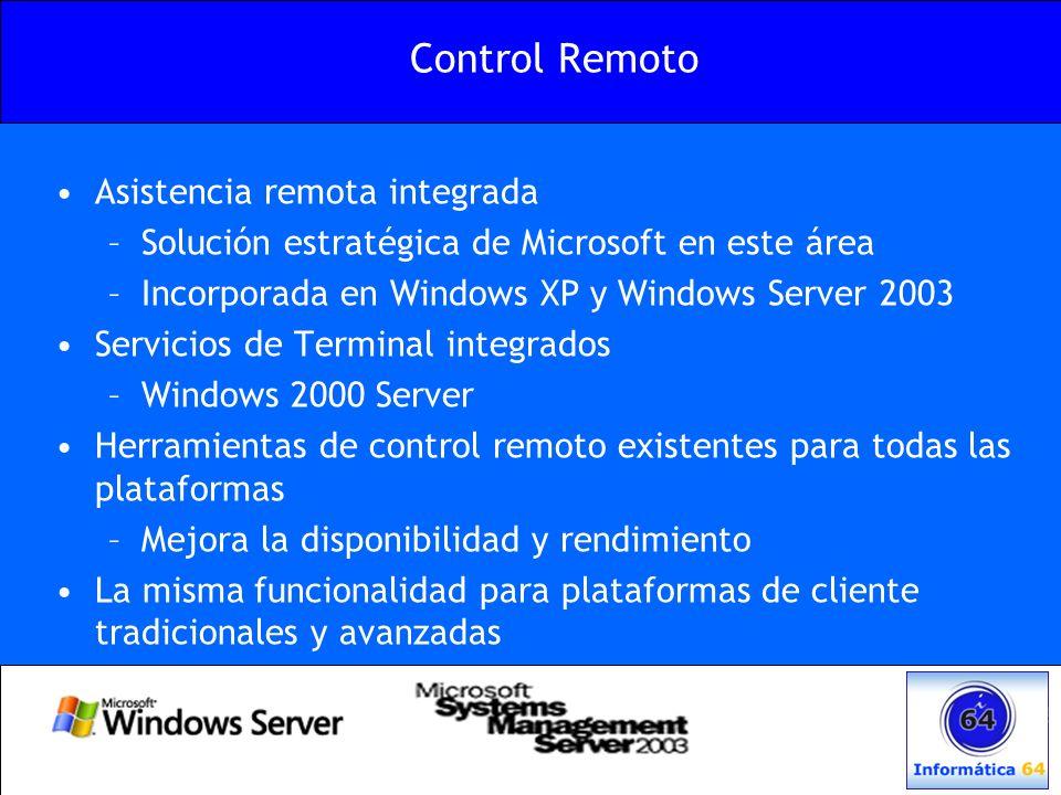 Control Remoto Asistencia remota integrada