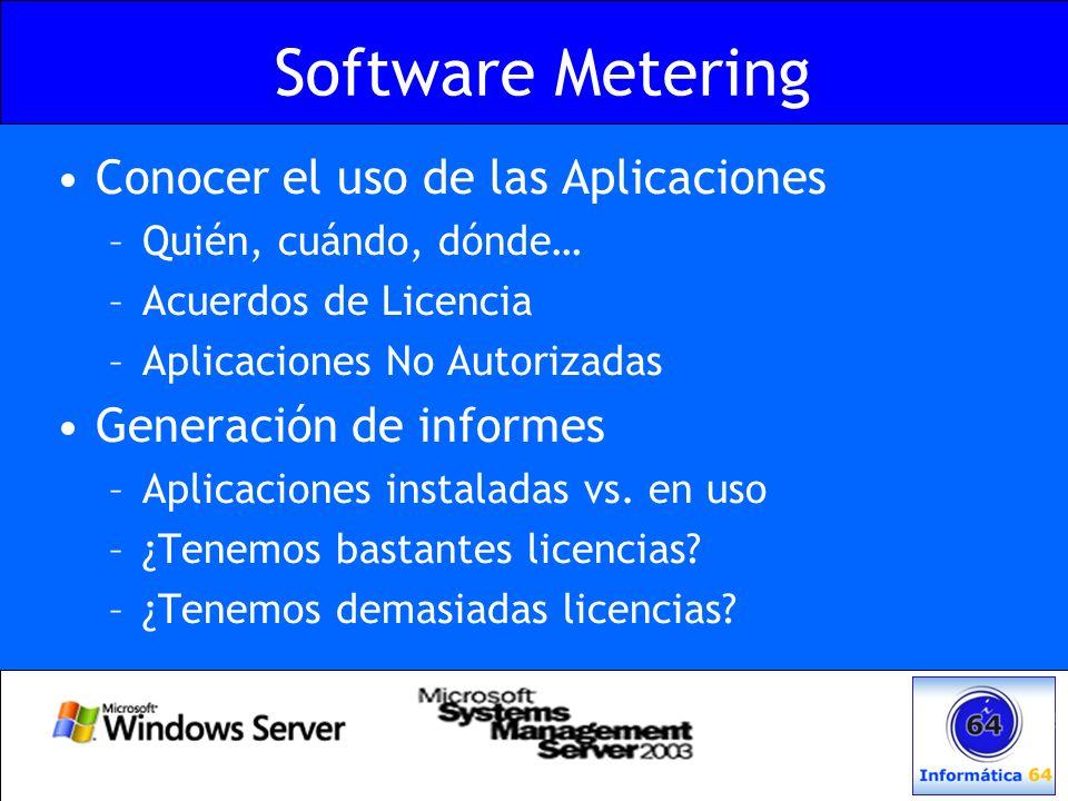 Software Metering Conocer el uso de las Aplicaciones