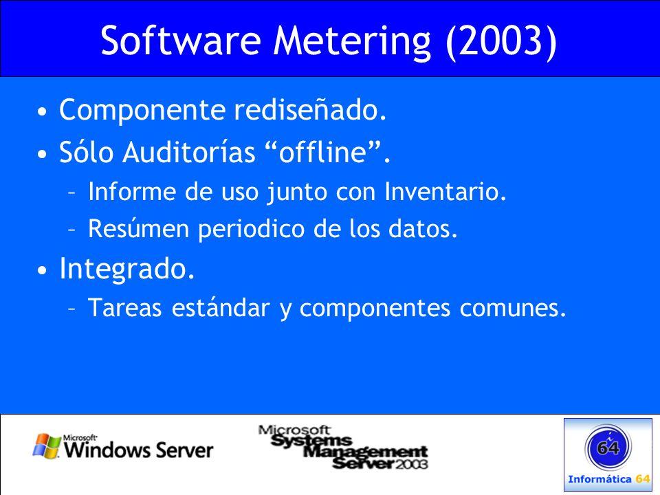 Software Metering (2003) Componente rediseñado.