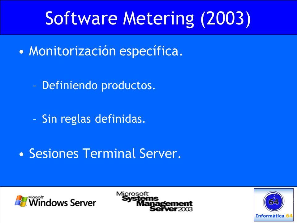 Software Metering (2003) Monitorización específica.