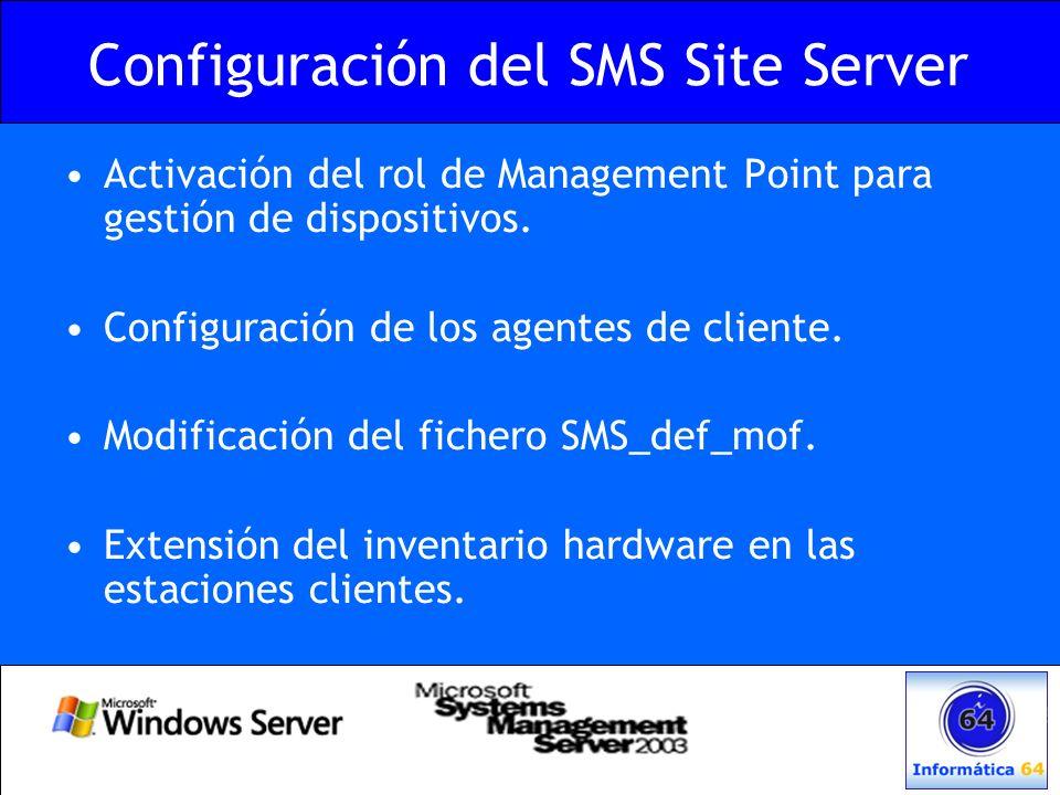 Configuración del SMS Site Server