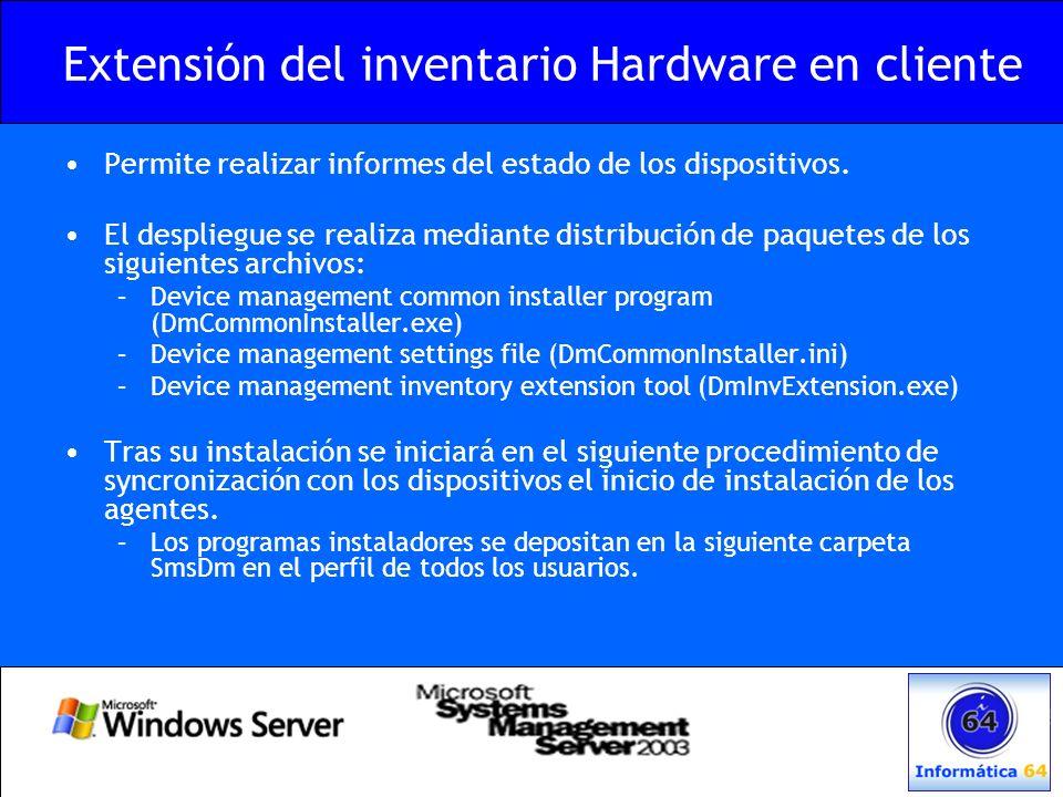Extensión del inventario Hardware en cliente