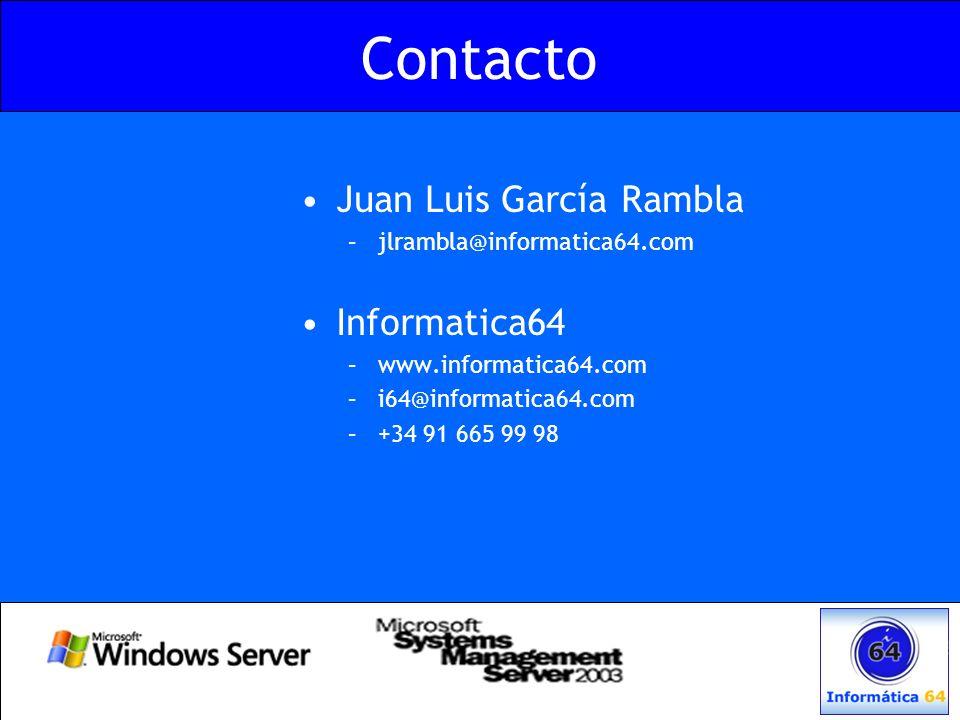 Contacto Juan Luis García Rambla Informatica64