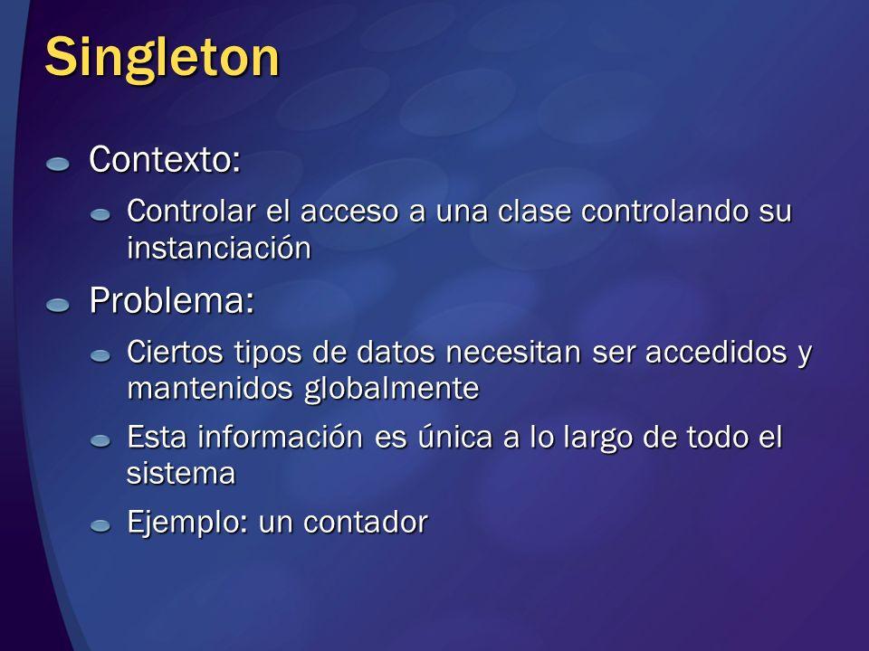 Singleton Contexto: Problema: