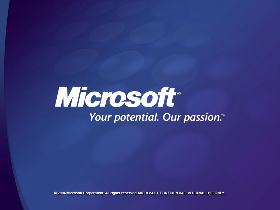 © 2004 Microsoft Corporation. All rights reserved