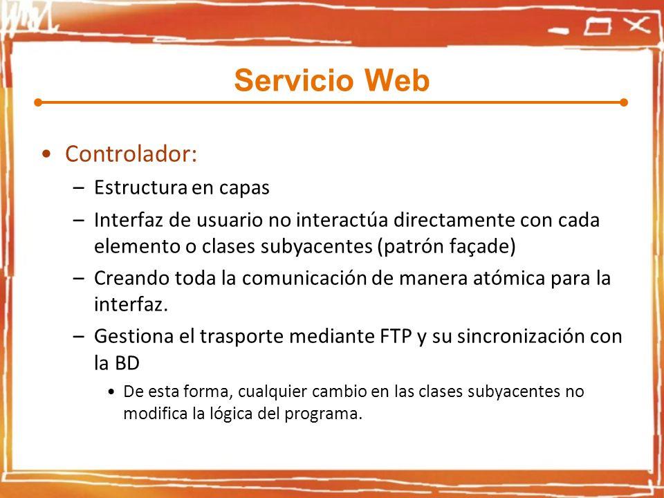 Servicio Web Controlador: Estructura en capas