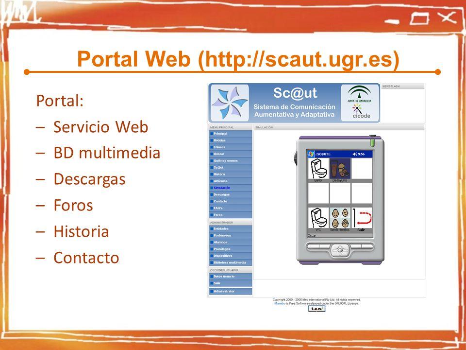 Portal Web (http://scaut.ugr.es)
