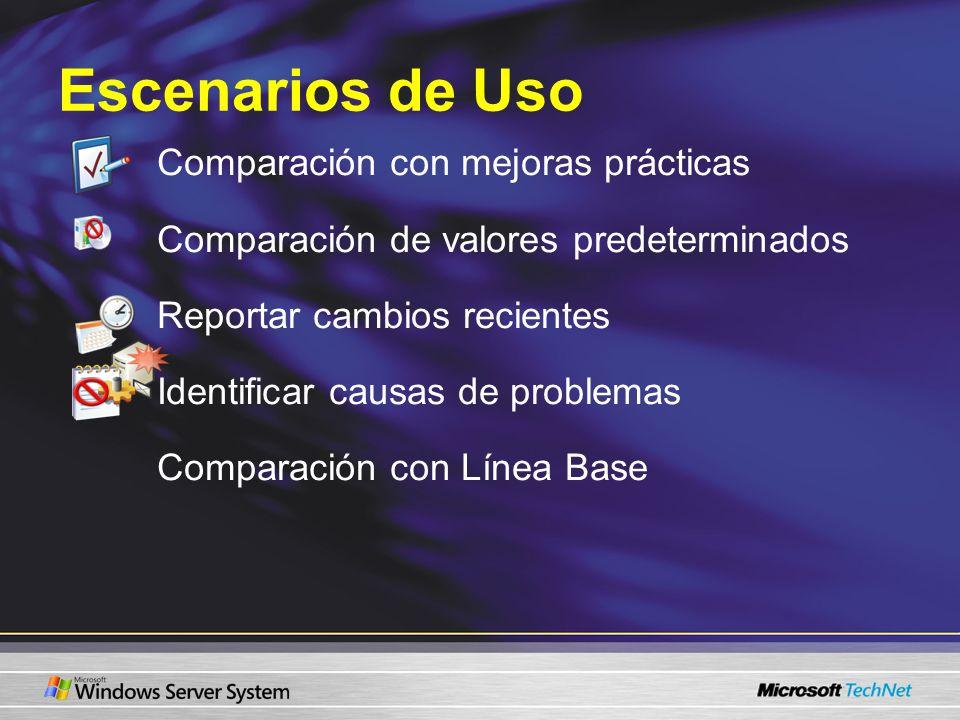 Escenarios de Uso Comparación con mejoras prácticas