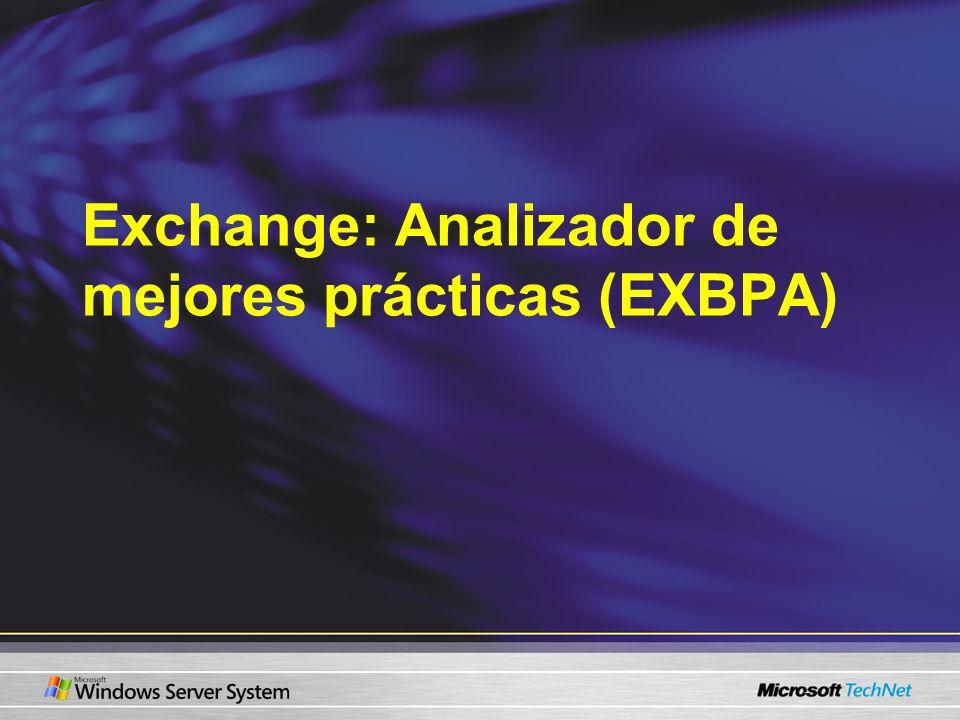 Exchange: Analizador de mejores prácticas (EXBPA)
