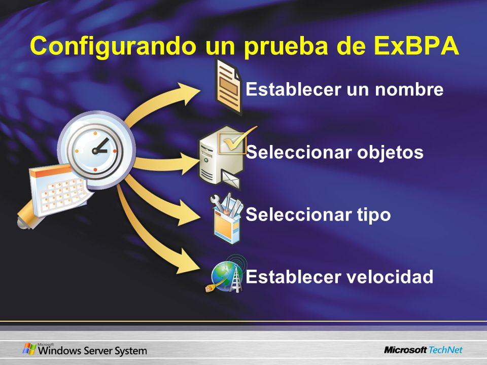 Configurando un prueba de ExBPA