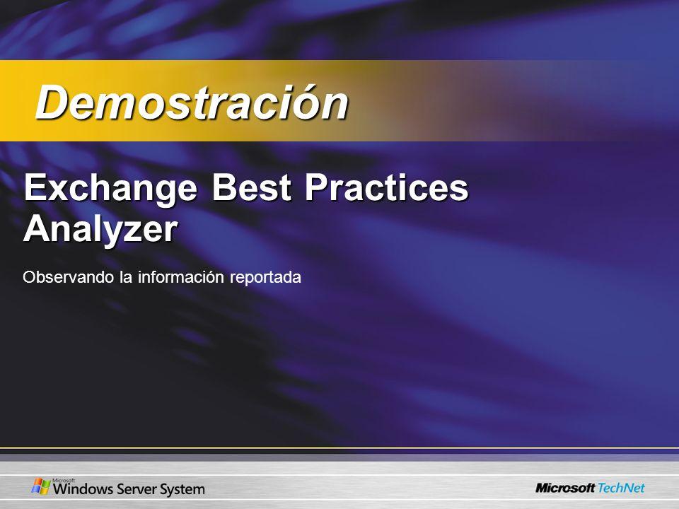 Demostración Exchange Best Practices Analyzer