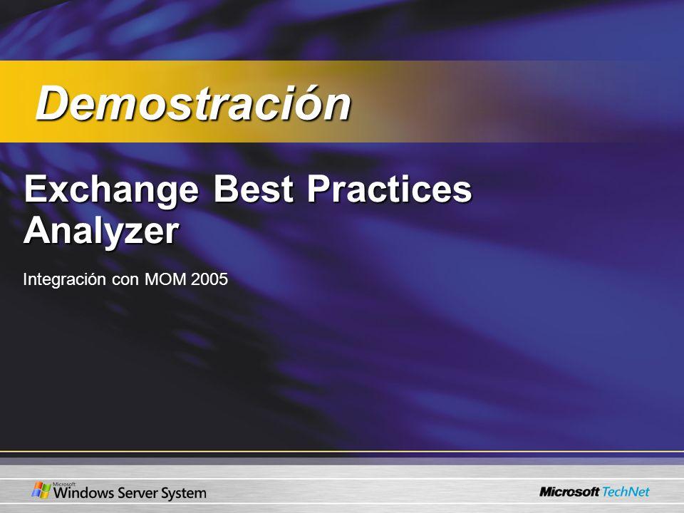 Demostración Exchange Best Practices Analyzer Integración con MOM 2005