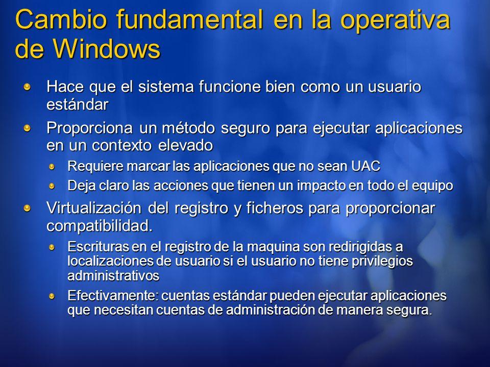 Cambio fundamental en la operativa de Windows