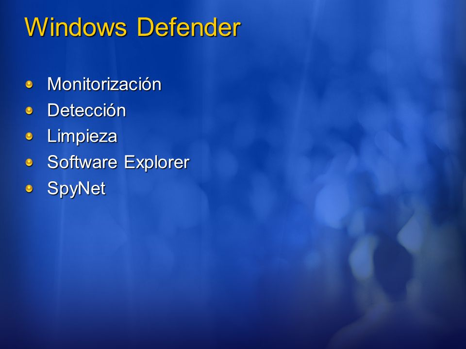 Windows Defender Monitorización Detección Limpieza Software Explorer