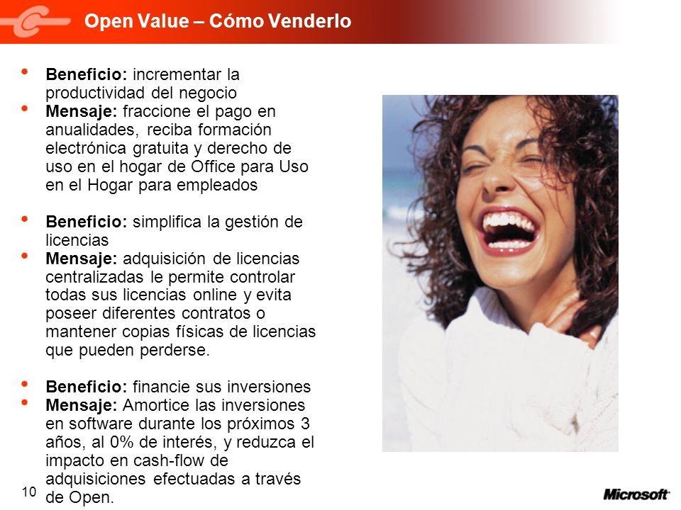 Open Value – Cómo Venderlo