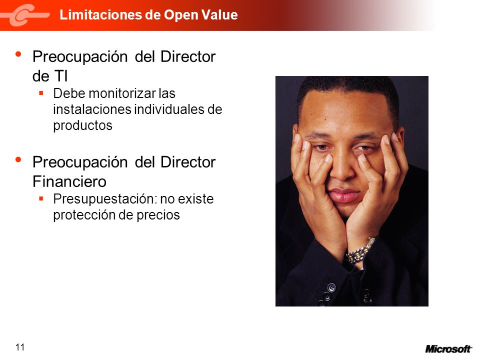 Limitaciones de Open Value