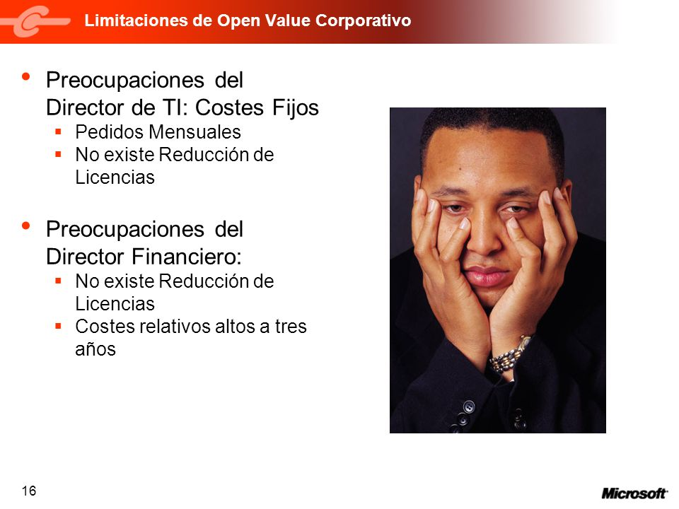 Limitaciones de Open Value Corporativo