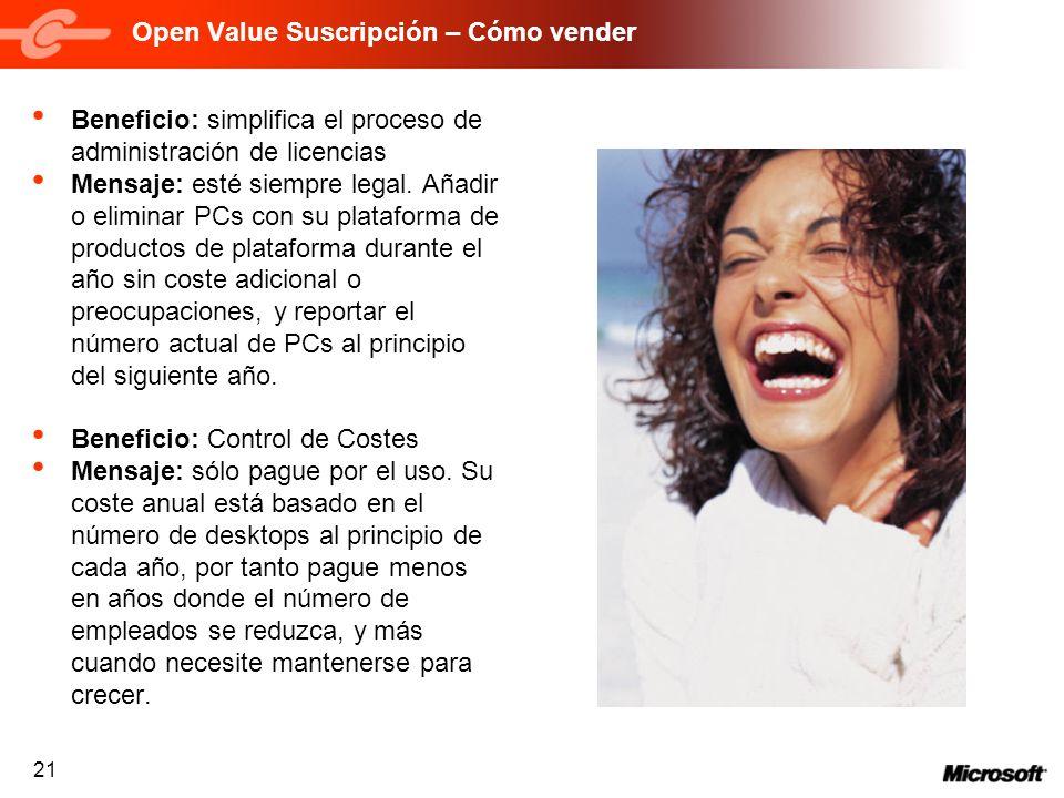 Open Value Suscripción – Cómo vender