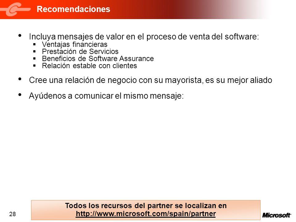 Incluya mensajes de valor en el proceso de venta del software: