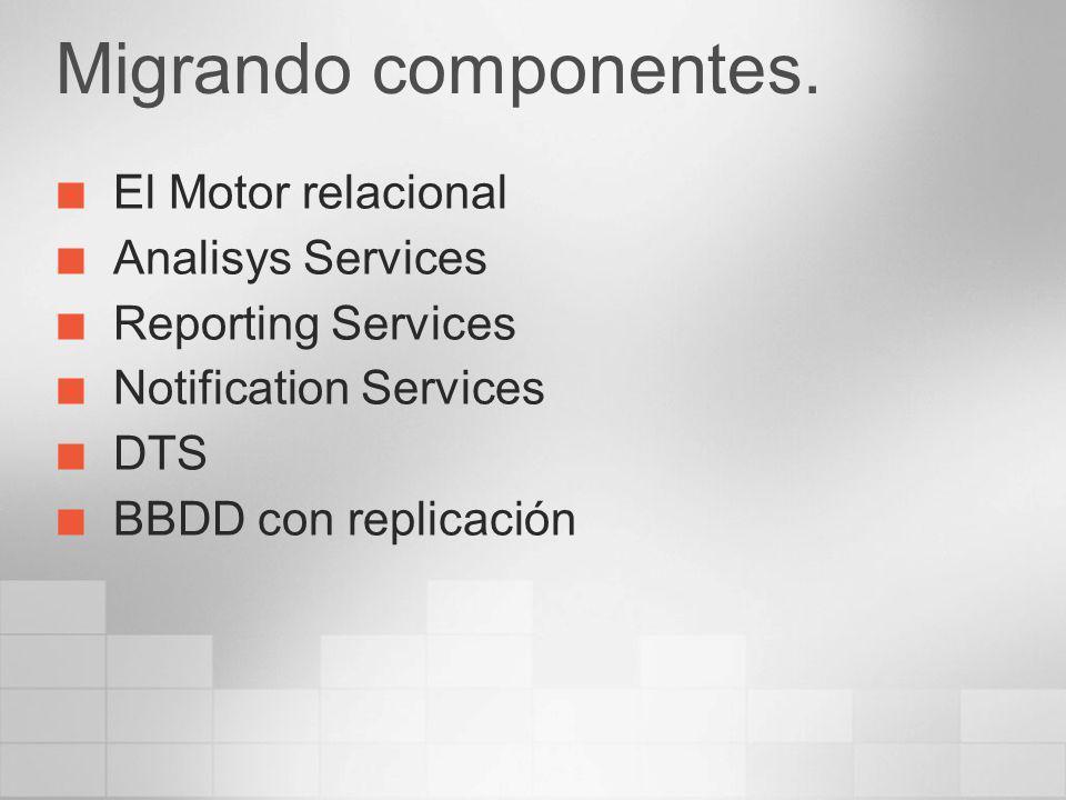Migrando componentes. El Motor relacional Analisys Services