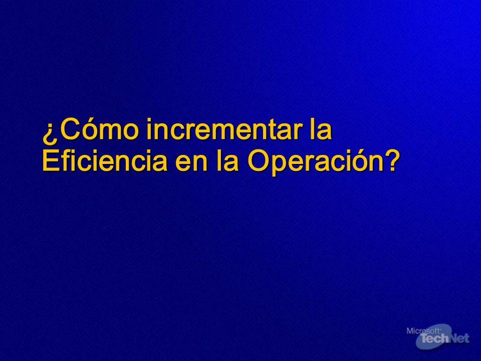 ¿Cómo incrementar la Eficiencia en la Operación