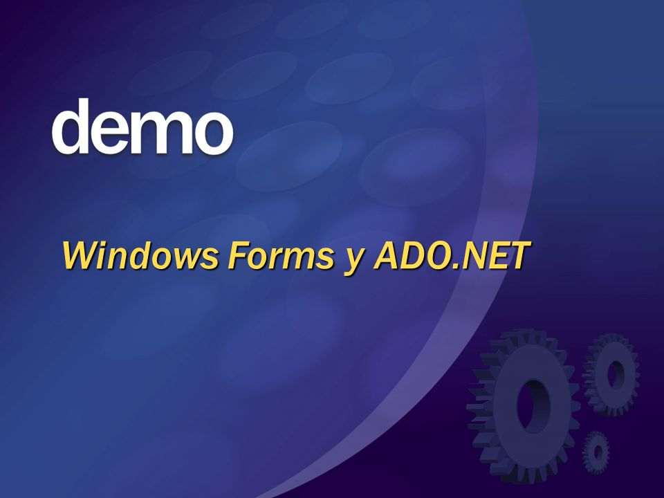 Windows Forms y ADO.NET © 2004 Microsoft Corporation. All rights reserved.