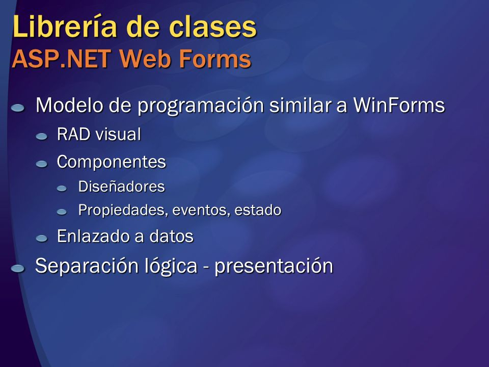 Librería de clases ASP.NET Web Forms