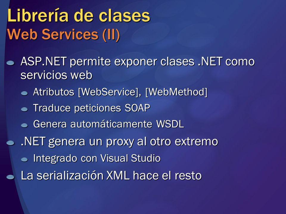 Librería de clases Web Services (II)
