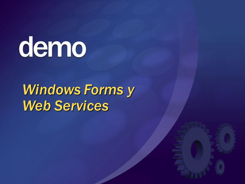 Windows Forms y Web Services