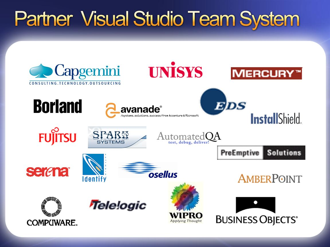 Partner Visual Studio Team System