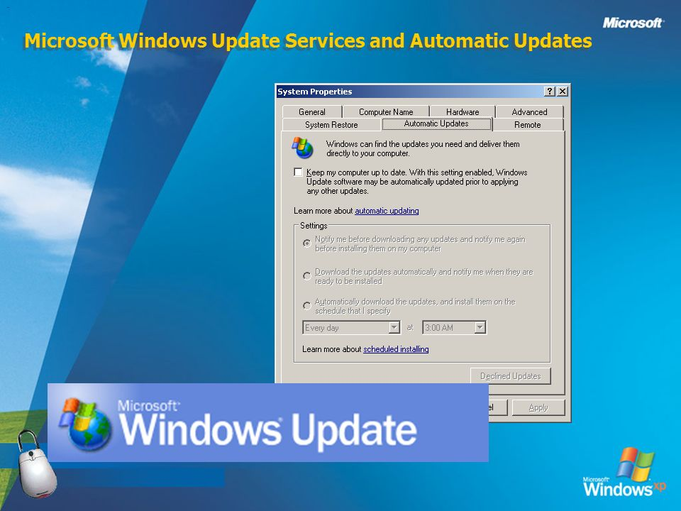 Microsoft Windows Update Services and Automatic Updates