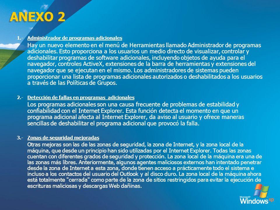 ANEXO 2 3/24/2017 1.- Administrador de programas adicionales