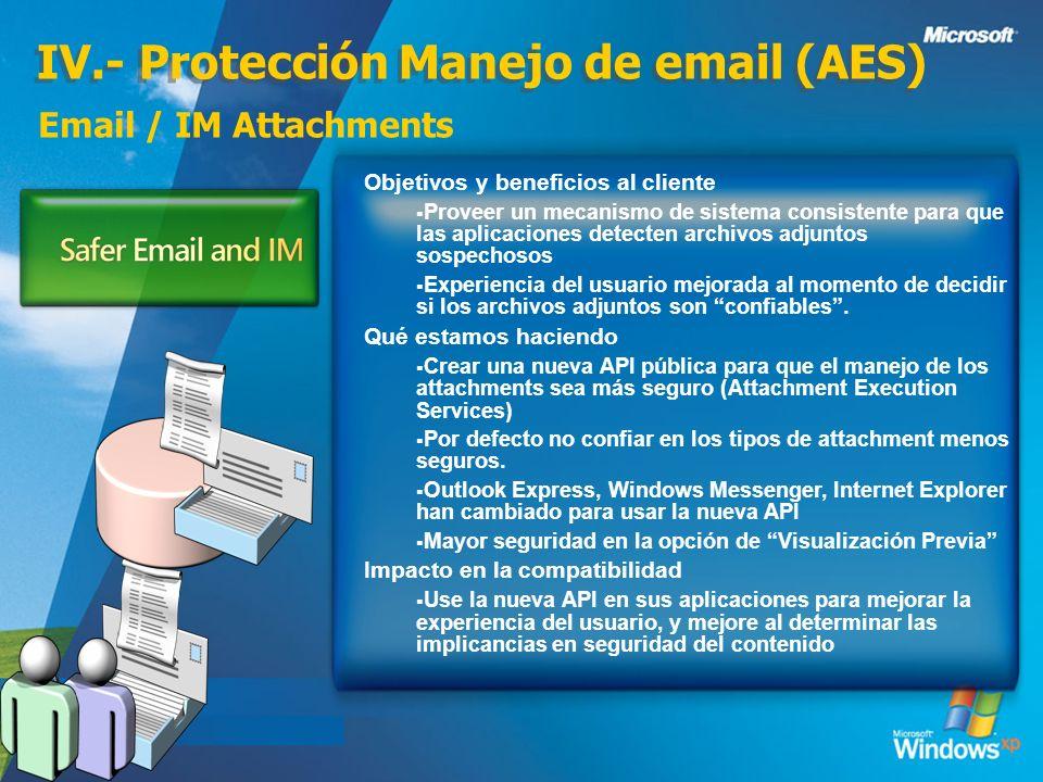 IV.- Protección Manejo de email (AES)