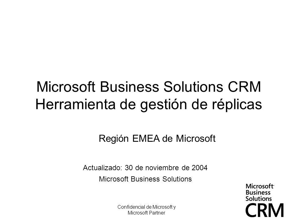 Microsoft Business Solutions CRM Herramienta de gestión de réplicas