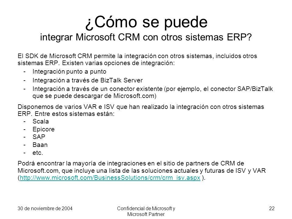 ¿Cómo se puede integrar Microsoft CRM con otros sistemas ERP