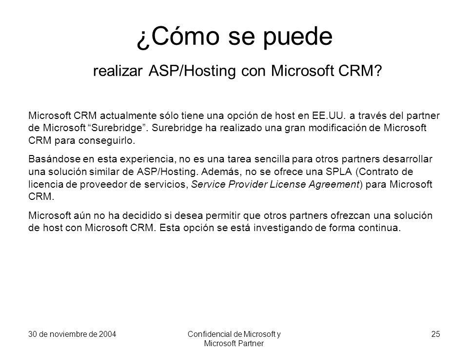 ¿Cómo se puede realizar ASP/Hosting con Microsoft CRM