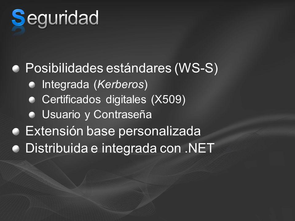 S eguridad Posibilidades estándares (WS-S)