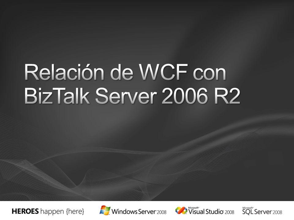 Relación de WCF con BizTalk Server 2006 R2