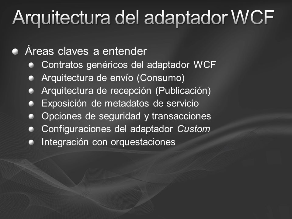Arquitectura del adaptador WCF