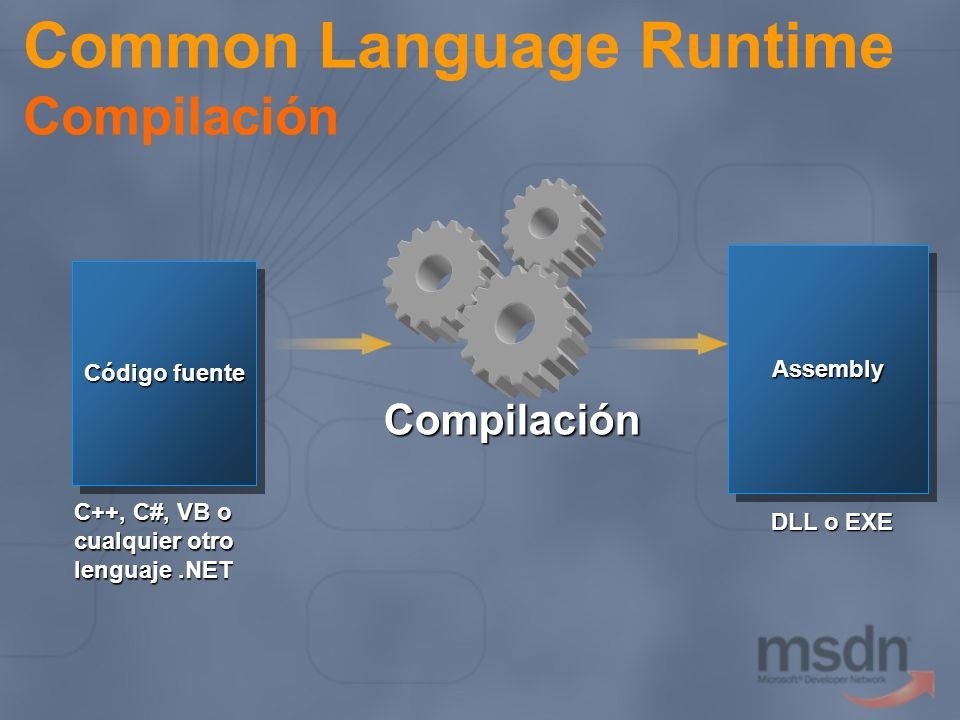Common Language Runtime Compilación
