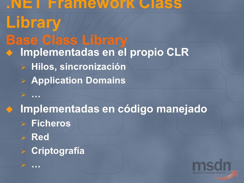 .NET Framework Class Library Base Class Library